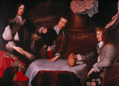 Prince Rupert, Colonel Murray and Colonel Russell, William Dobson, ca. 1644